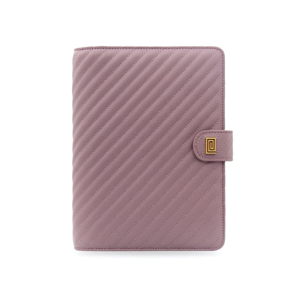 Mauve Vegan Matrice Quilted Agenda Cover RINGLESS / Planner - NOTIQ