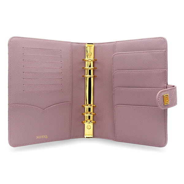 Mauve Vegan Matrice Quilted Agenda RING Cover / Planner - NOTIQ
