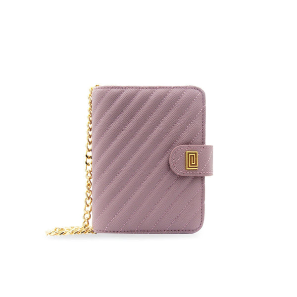 Mauve Vegan Matrice Quilted Pocket Agenda / Chain - NOTIQ