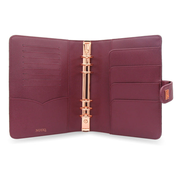 Mulberry Vegan Matrice Quilted Agenda RING Cover / Planner - NOTIQ
