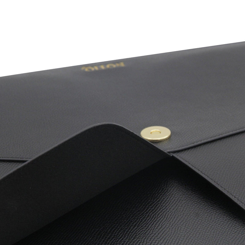 Noir Pebble Vegan Tech Clutch - NOTIQ