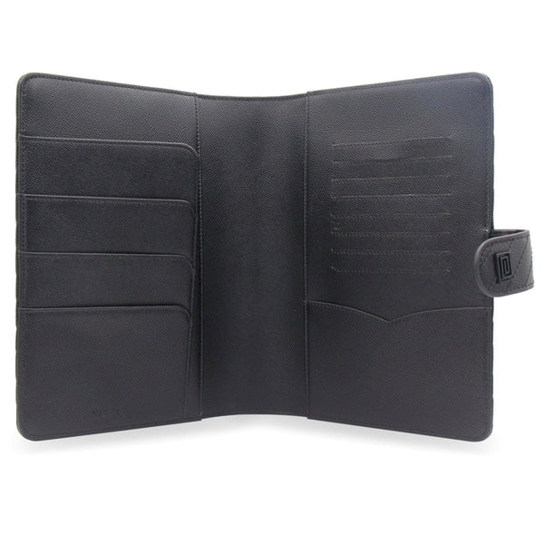 Noir Vegan Matrice Quilted Agenda Cover RINGLESS / Planner - NOTIQ