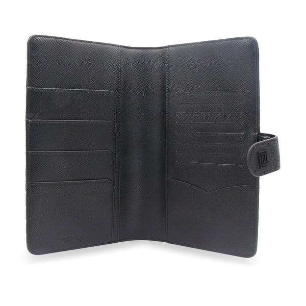 Noir Vegan Matrice Quilted SLIM Agenda Cover RINGLESS - NOTIQ