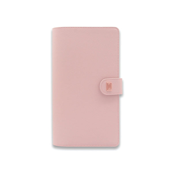 Rose Gold on Rosebud Saffiano SLIM Vegan Agenda Cover RINGLESS - NOTIQ