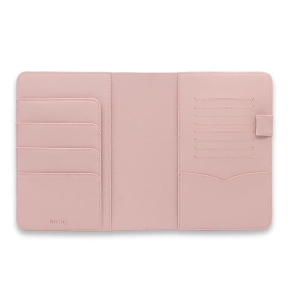 Rose Gold on Rosebud Saffiano Vegan Leather Agenda Folio / Planner - NOTIQ