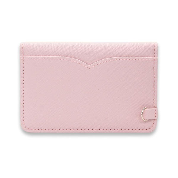 Rosebud Saffiano Vegan Leather Card Key Case - NOTIQ
