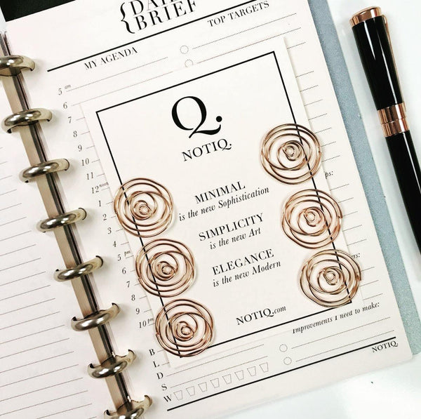 Rosella ROSE GOLD Paper Clips - Set of 6 - NOTIQ