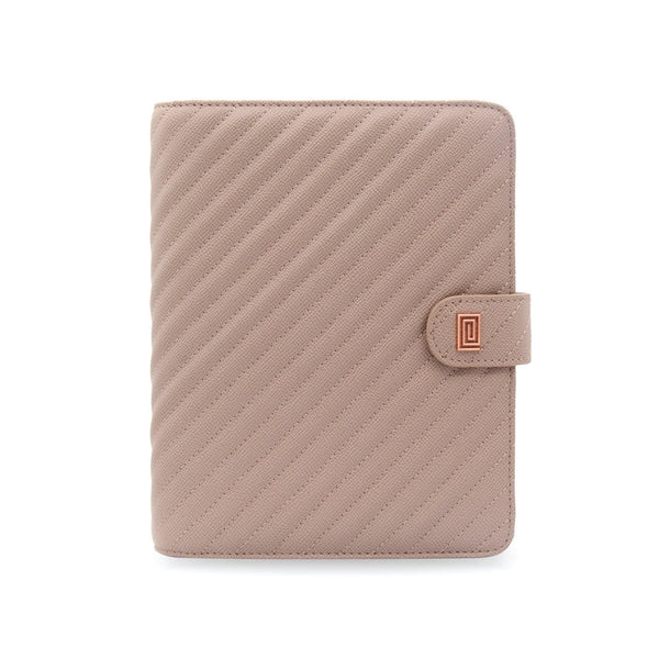 Stone Gray Vegan Matrice Quilted Agenda RING Cover / Planner - NOTIQ