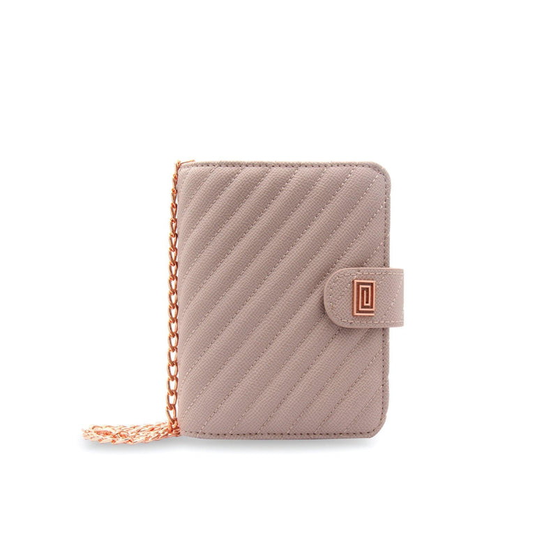 Stone Gray Vegan Matrice Quilted Pocket Agenda / Chain - NOTIQ