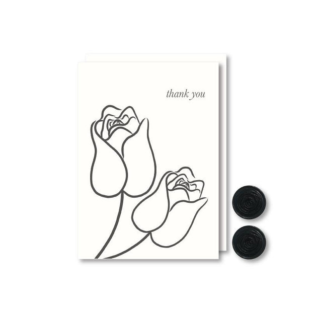 Duo Merci Thank You Note Cards Set - NOTIQ