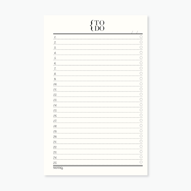 TO DO List Notepad - NOTIQ