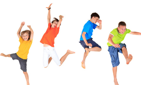 Active kids jumping
