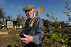 Older Man active in allotment