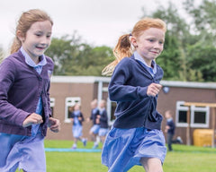 Thorner Primary School Children Running on Track