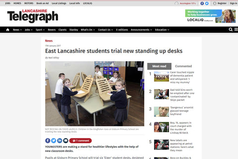 Eiger Student Standing Desk Featured in The Telegraph