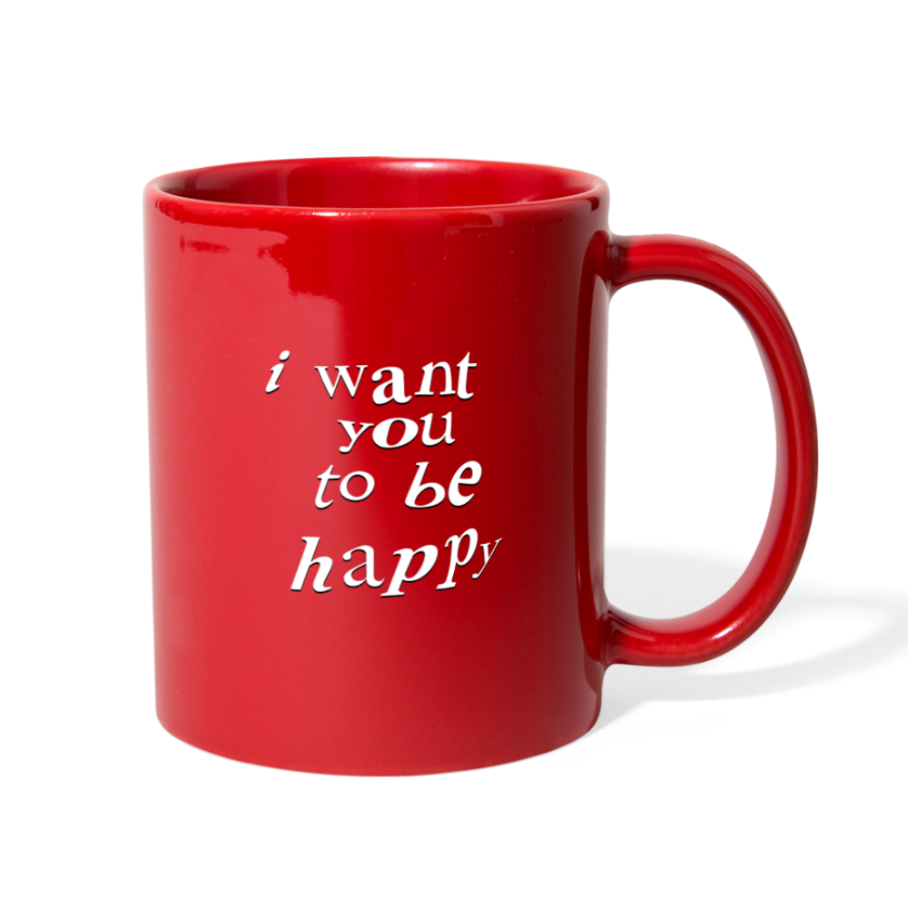 Load image into Gallery viewer, NAZ - I WANT YOU TO BE HAPPY (MUG) - red