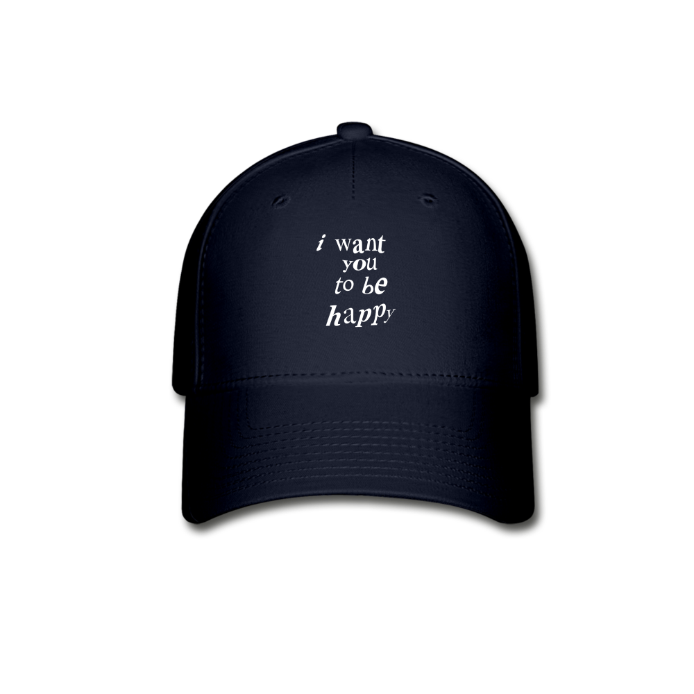 Load image into Gallery viewer, NAZ - I WANT YOU TO BE HAPPY (HAT) - navy
