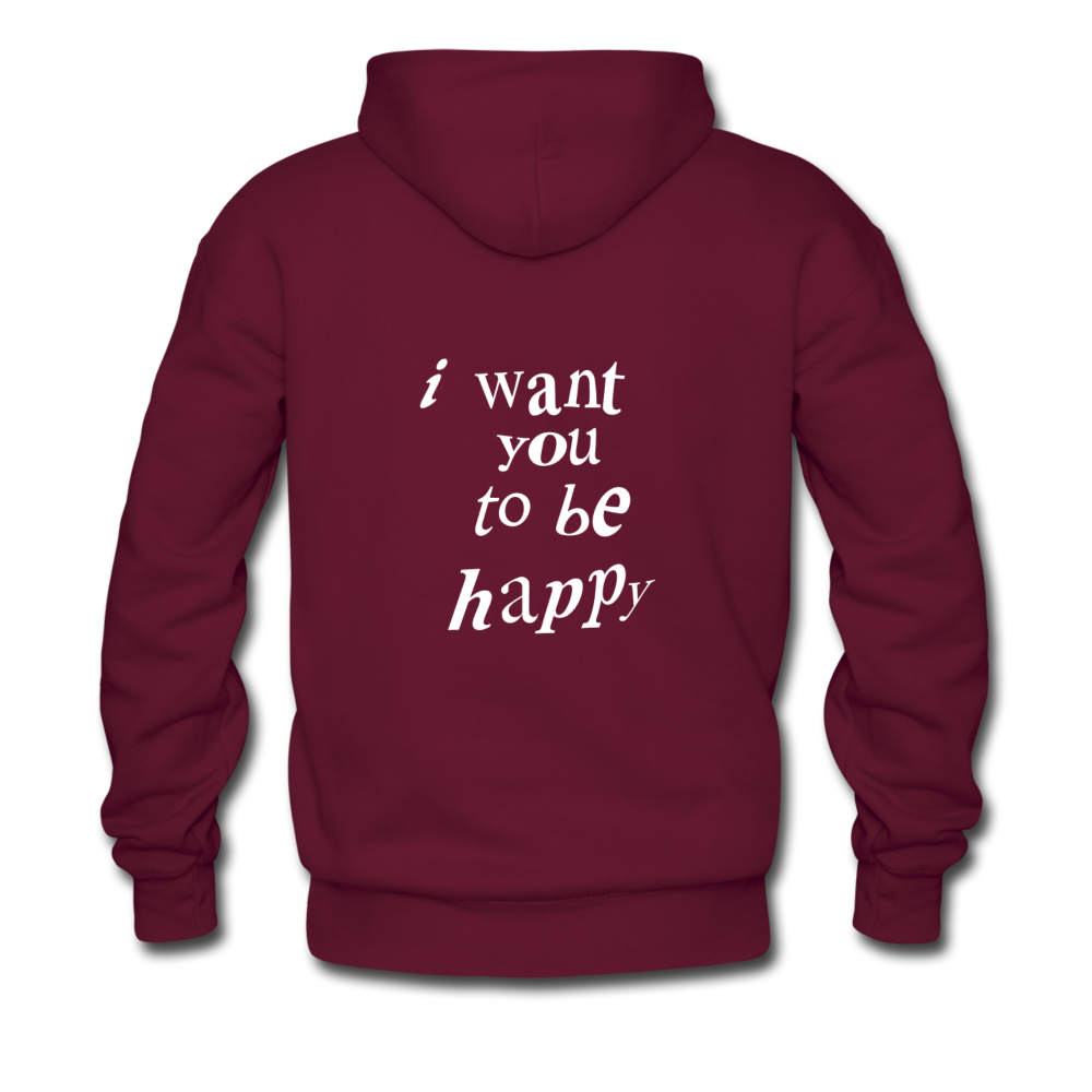 Load image into Gallery viewer, NAZ - I WANT YOU TO BE HAPPY (MENS) - burgundy