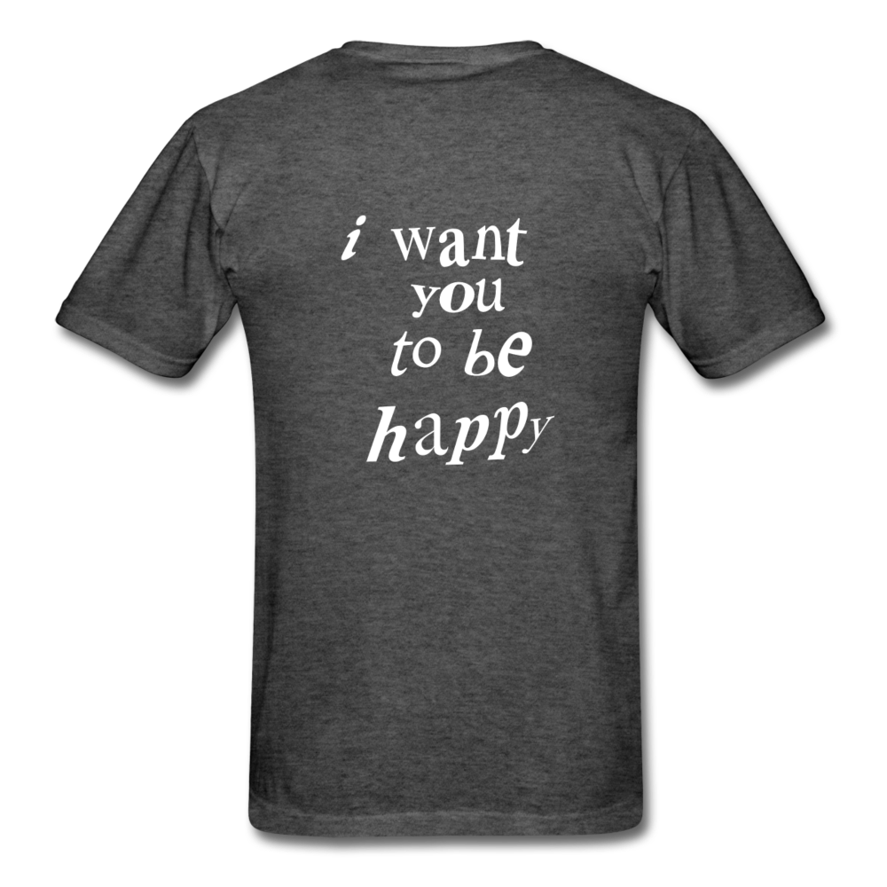 Load image into Gallery viewer, NAZ - I WANT YOU TO BE HAPPY (MENS) - heather black