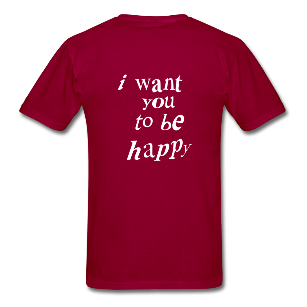Load image into Gallery viewer, NAZ - I WANT YOU TO BE HAPPY (MENS) - dark red