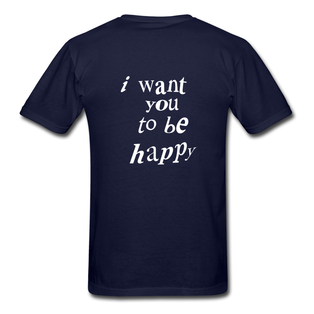 Load image into Gallery viewer, NAZ - I WANT YOU TO BE HAPPY (MENS) - navy