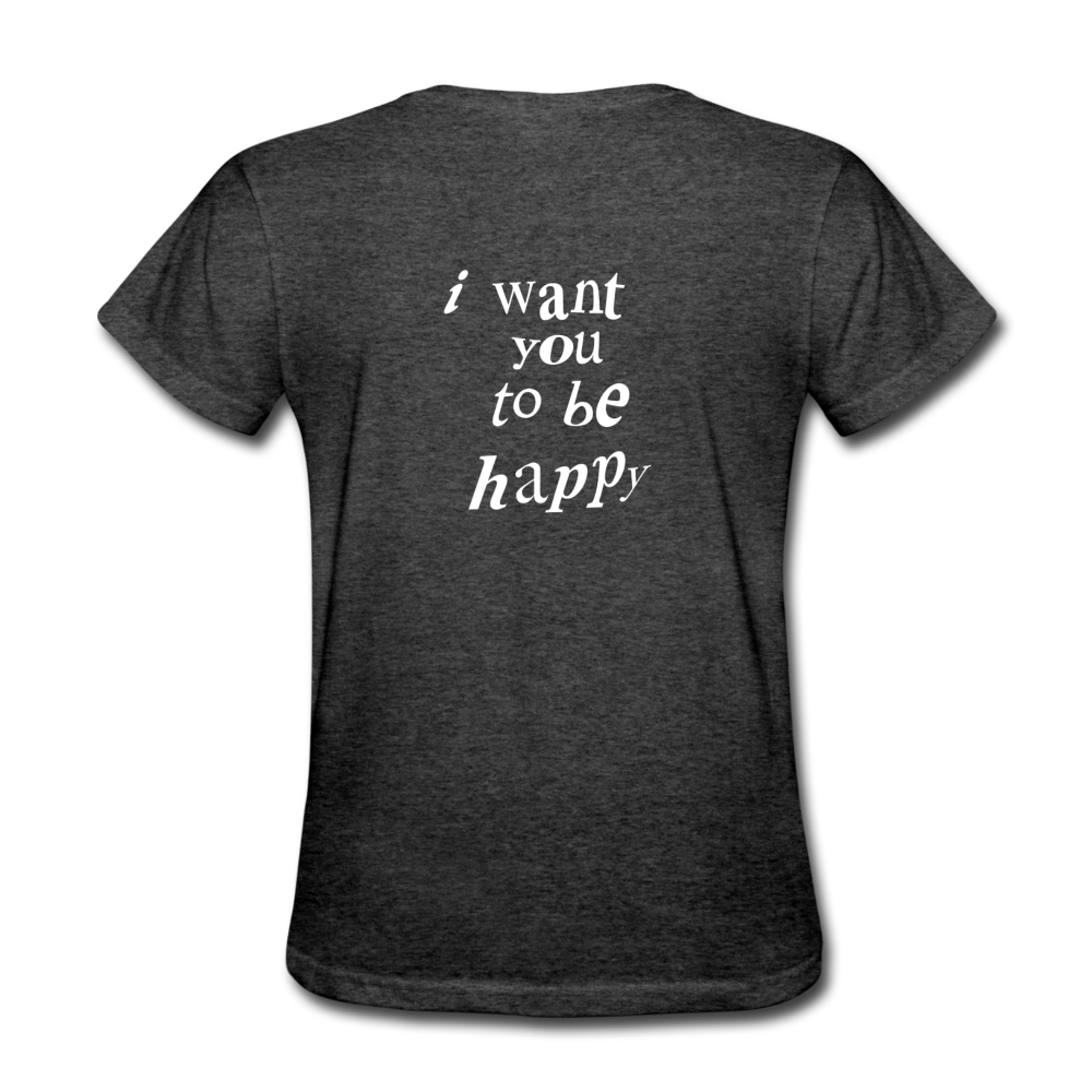 Load image into Gallery viewer, NAZ - I WANT YOU TO BE HAPPY (WOMENS) - heather black