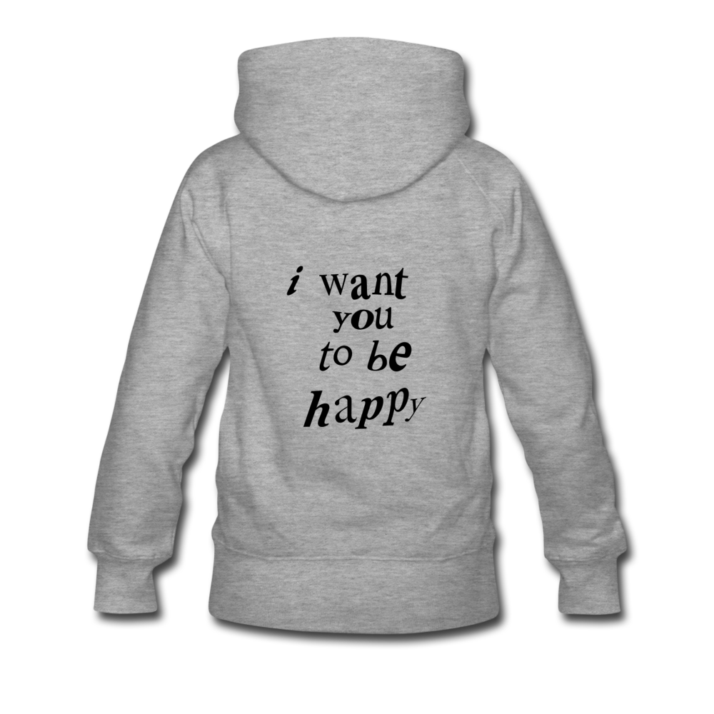 Load image into Gallery viewer, NAZ - I WANT YOU TO BE HAPPY (WOMENS) - heather gray