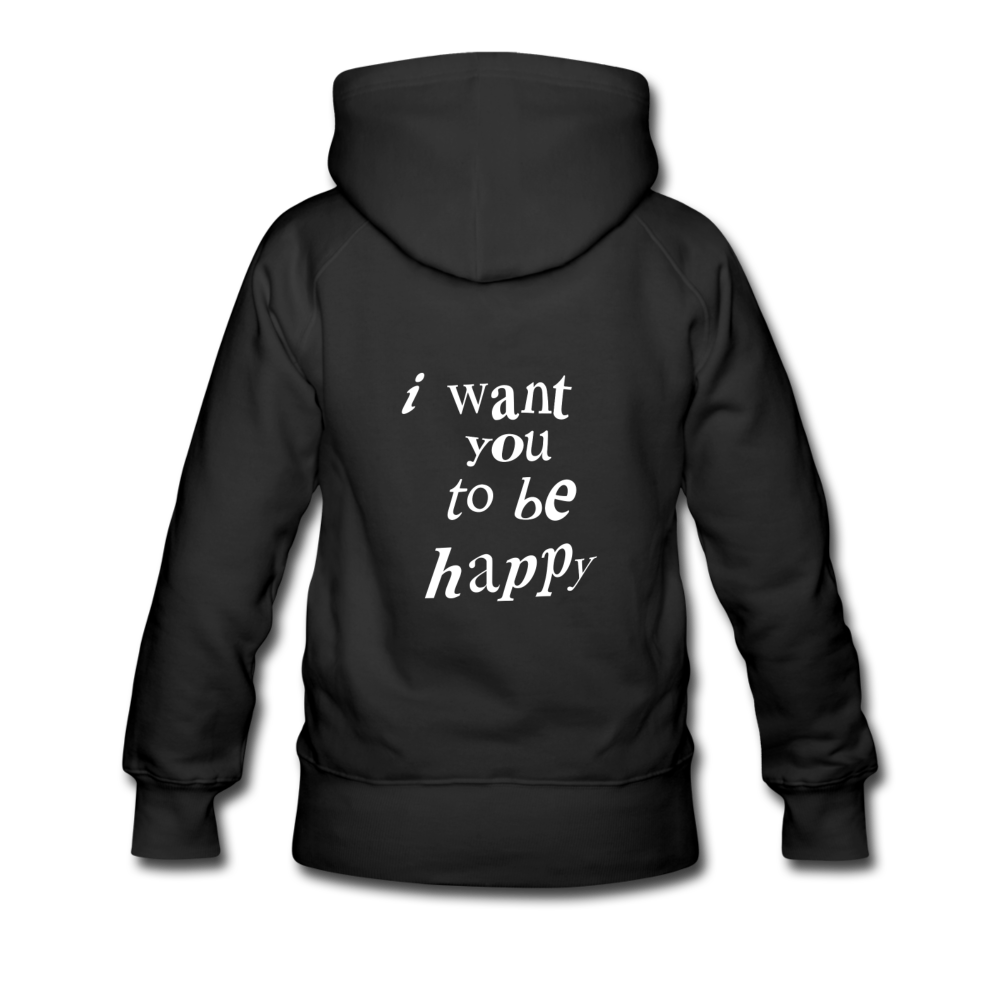 Load image into Gallery viewer, NAZ - I WANT YOU TO BE HAPPY (WOMENS) - black