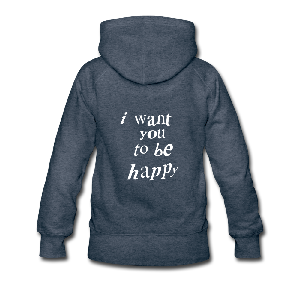 Load image into Gallery viewer, NAZ - I WANT YOU TO BE HAPPY (WOMENS) - heather denim