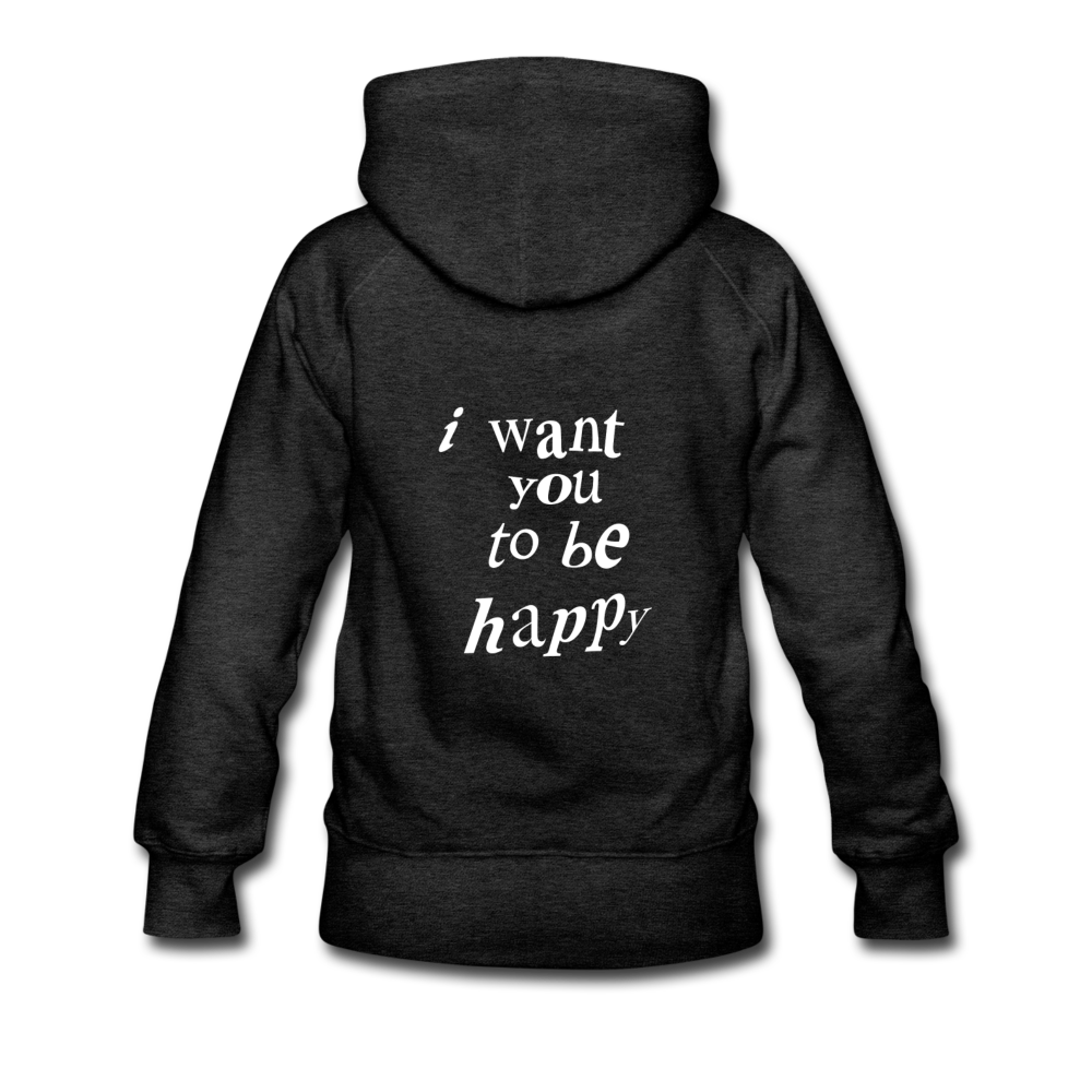 Load image into Gallery viewer, NAZ - I WANT YOU TO BE HAPPY (WOMENS) - charcoal gray