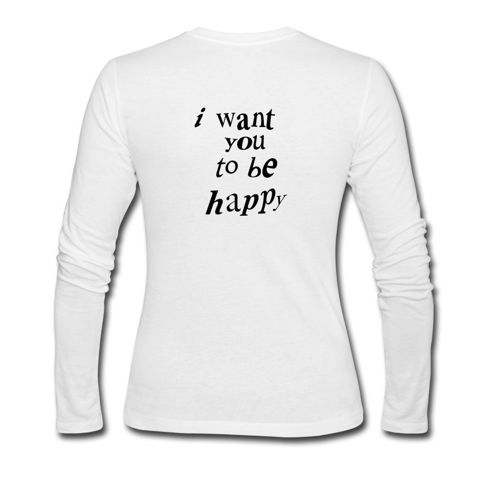 Load image into Gallery viewer, NAZ - I WANT YOU TO BE HAPPY (WOMENS) - white
