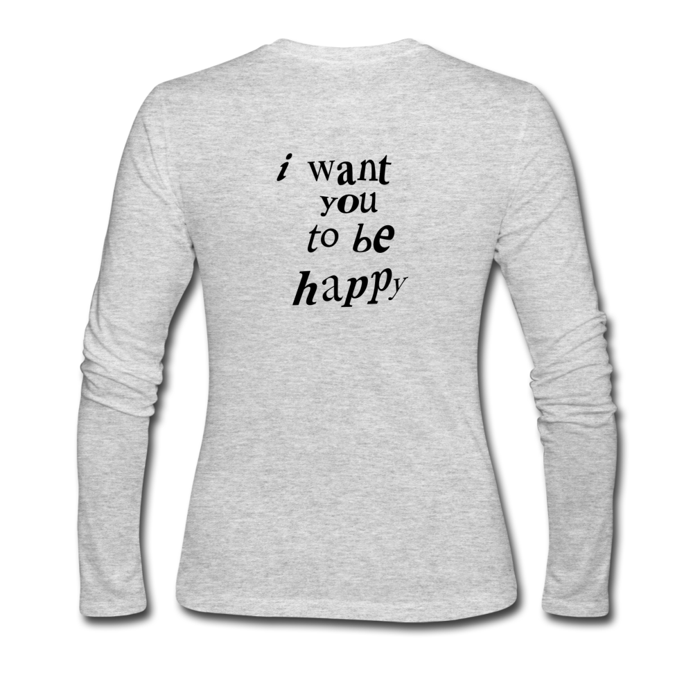 Load image into Gallery viewer, NAZ - I WANT YOU TO BE HAPPY (WOMENS) - gray