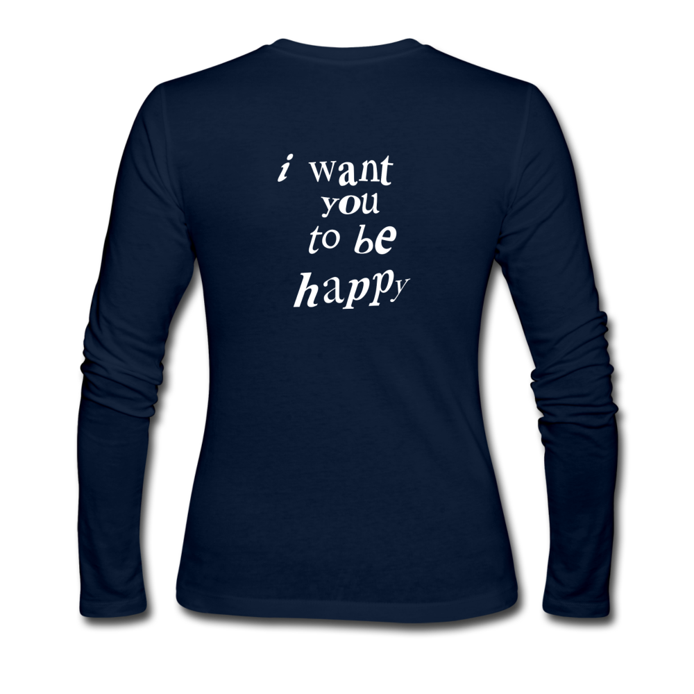 Load image into Gallery viewer, NAZ - I WANT YOU TO BE HAPPY (WOMENS) - navy