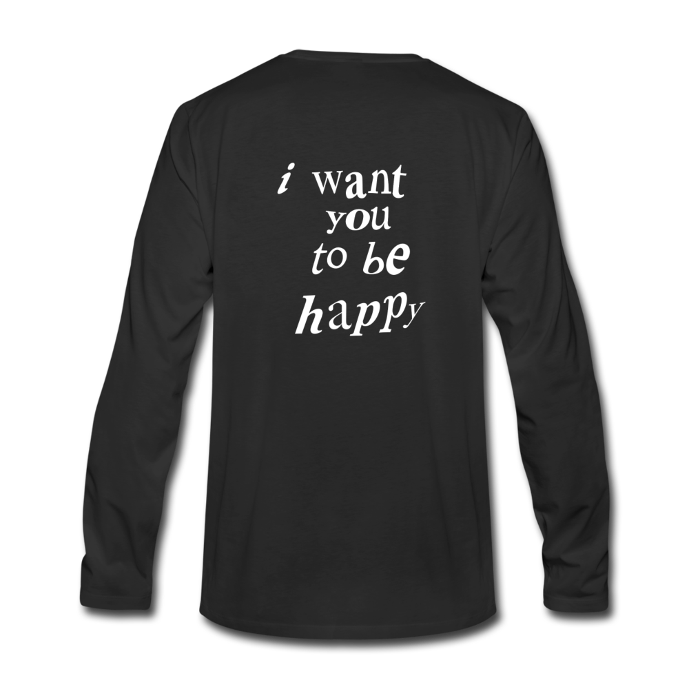 Load image into Gallery viewer, NAZ - I WANT YOU TO BE HAPPY (MENS) - black