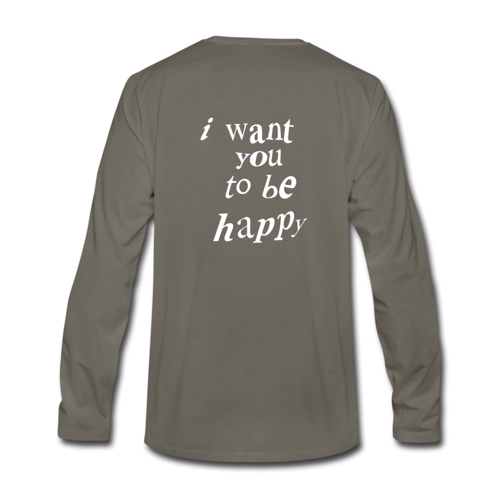 Load image into Gallery viewer, NAZ - I WANT YOU TO BE HAPPY (MENS) - asphalt gray