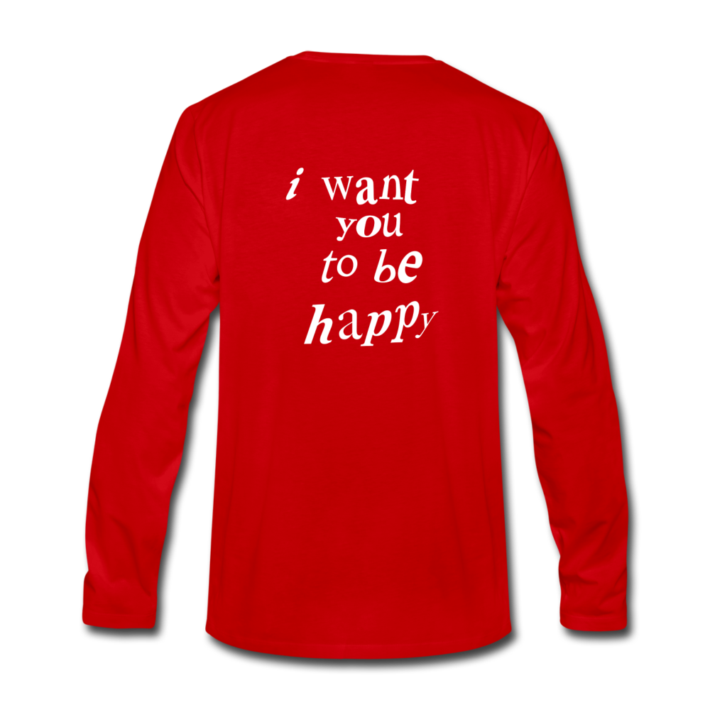 Load image into Gallery viewer, NAZ - I WANT YOU TO BE HAPPY (MENS) - red