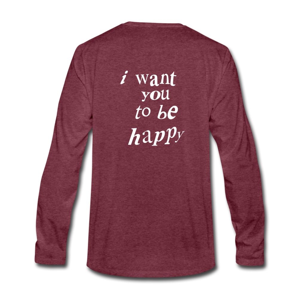 Load image into Gallery viewer, NAZ - I WANT YOU TO BE HAPPY (MENS) - heather burgundy