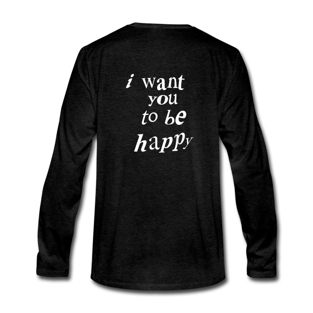 Load image into Gallery viewer, NAZ - I WANT YOU TO BE HAPPY (MENS) - charcoal gray