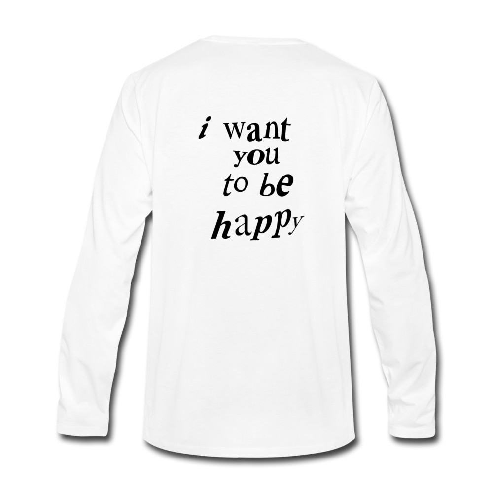 Load image into Gallery viewer, NAZ - I WANT YOU TO BE HAPPY (MENS) - white