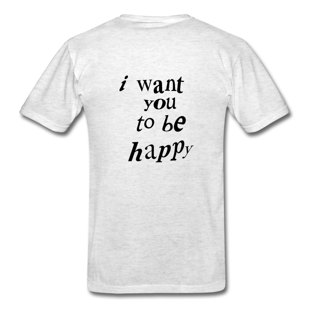 Load image into Gallery viewer, NAZ - I WANT YOU TO BE HAPPY (MENS) - light heather grey