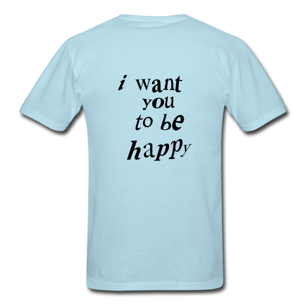Load image into Gallery viewer, NAZ - I WANT YOU TO BE HAPPY (MENS) - powder blue