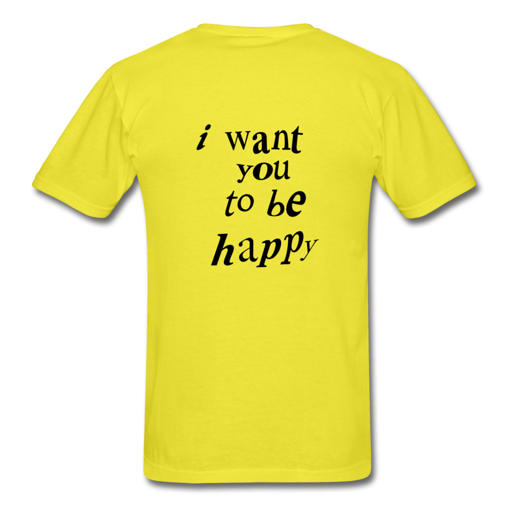 Load image into Gallery viewer, NAZ - I WANT YOU TO BE HAPPY (MENS) - yellow