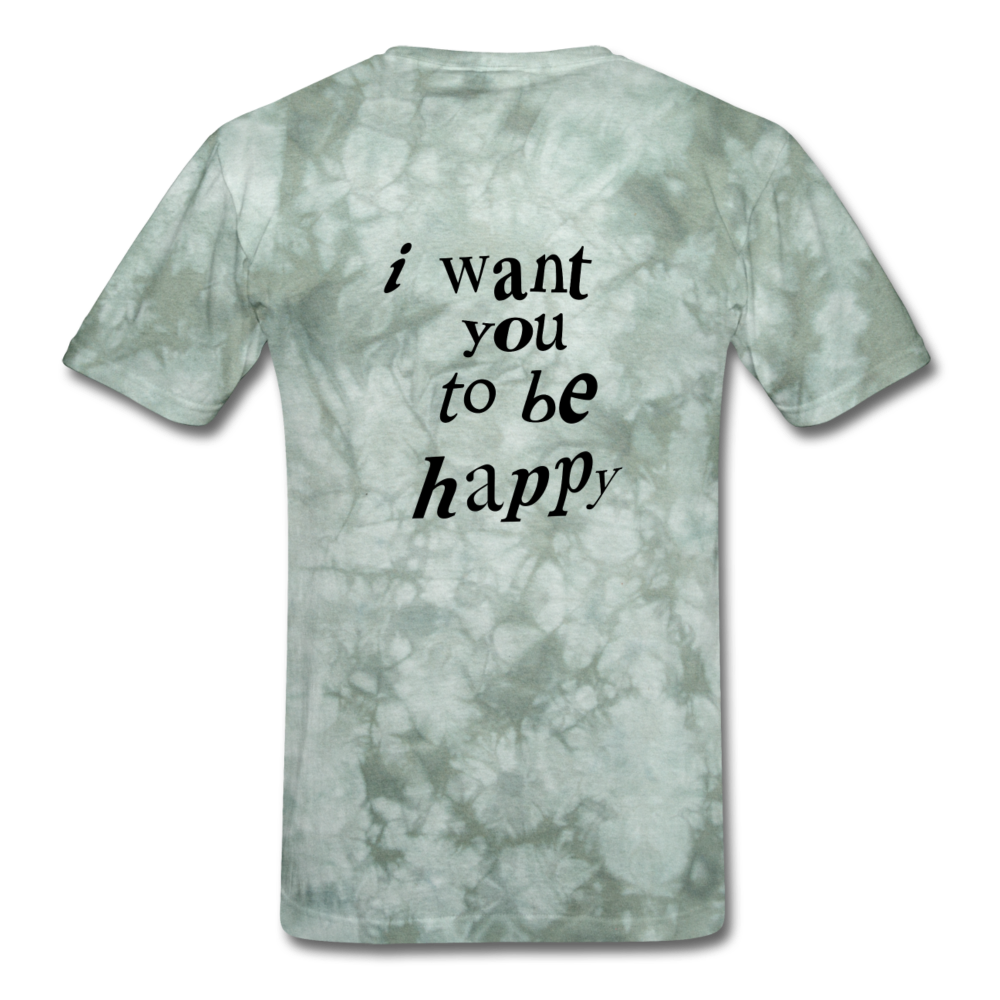 Load image into Gallery viewer, NAZ - I WANT YOU TO BE HAPPY (MENS) - military green tie dye