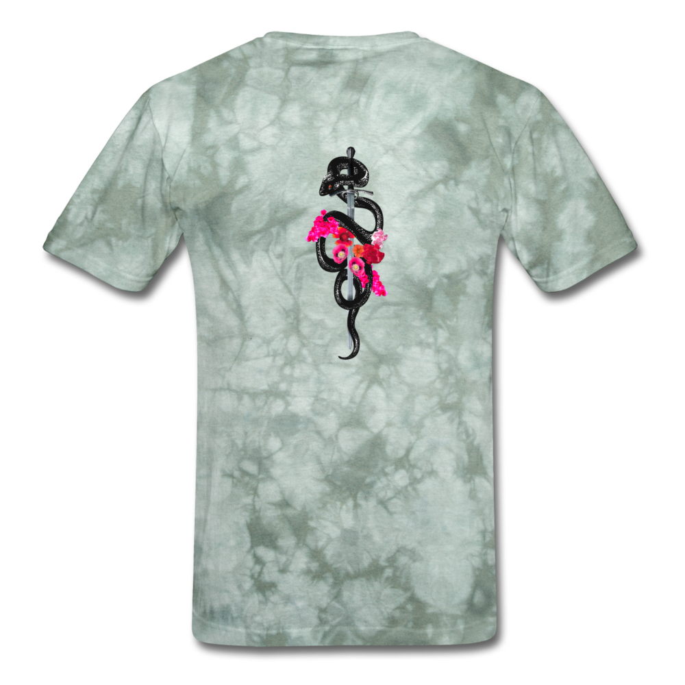 Load image into Gallery viewer, Dre x Jaxon - Snake T-Shirt - military green tie dye