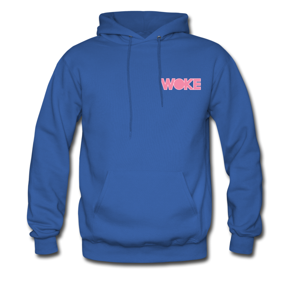 Load image into Gallery viewer, Kyle - Woke Hoodie (Pink Design) - royal blue