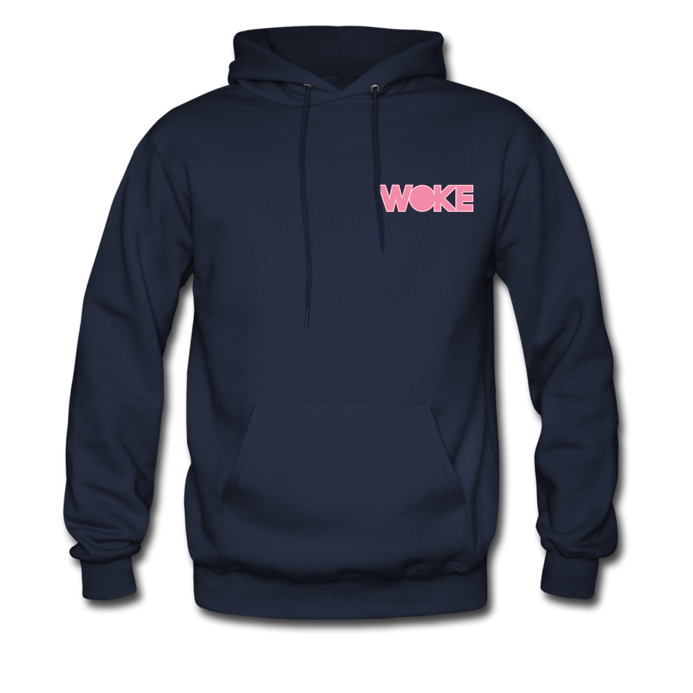 Load image into Gallery viewer, Kyle - Woke Hoodie (Pink Design) - navy