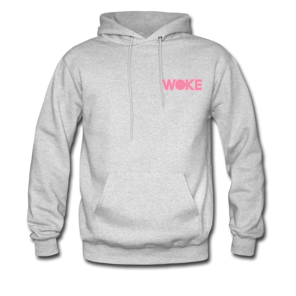 Load image into Gallery viewer, Kyle - Woke Hoodie (Pink Design) - ash
