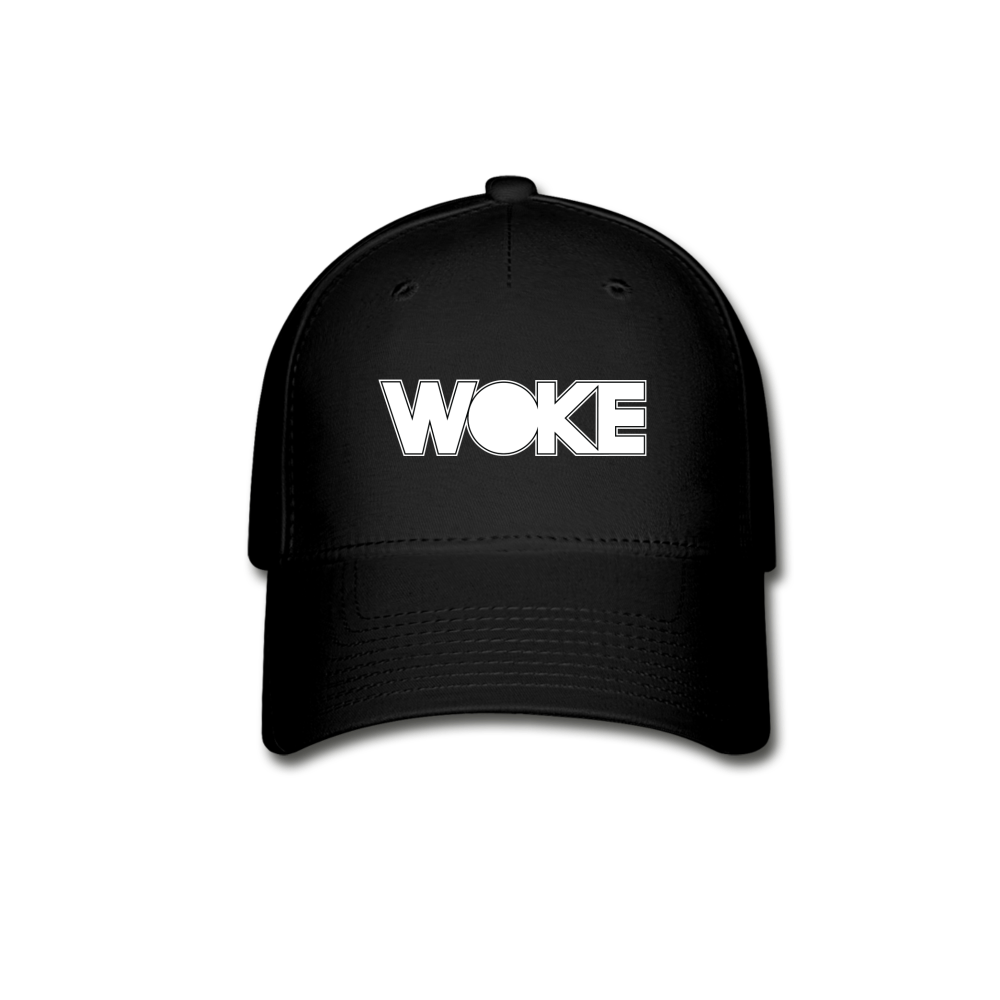Load image into Gallery viewer, Kyle - Woke Hat (White Design) - black