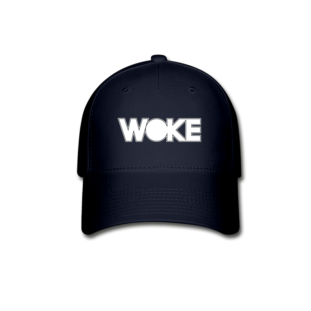 Load image into Gallery viewer, Kyle - Woke Hat (White Design) - navy
