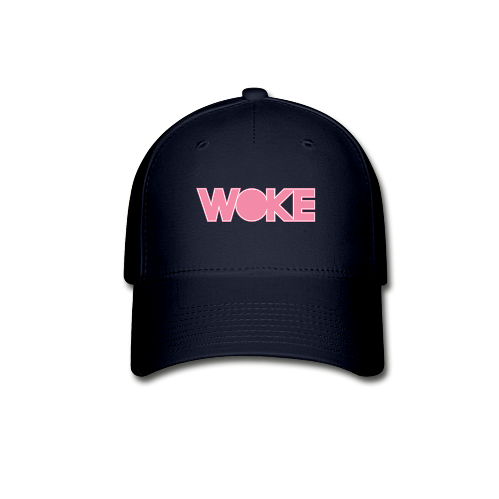 Load image into Gallery viewer, Kyle - Woke Hat (Pink Design) - navy